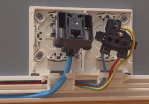 Installation prise RJ45 + prise électrique Patrick PIRIN